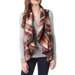 Hyfve plaid waterfall cardigan fall colors small